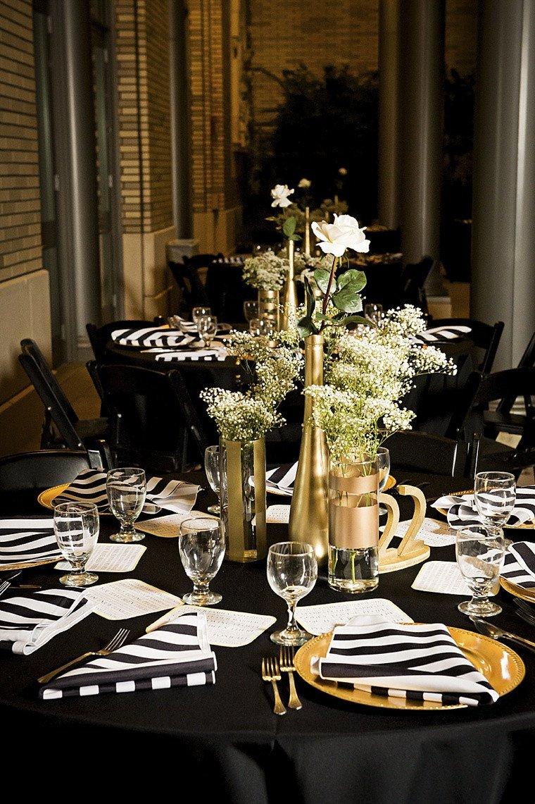 Black and Gold Wedding Decor Elegant Modern Elegant White Black and Gold Wedding