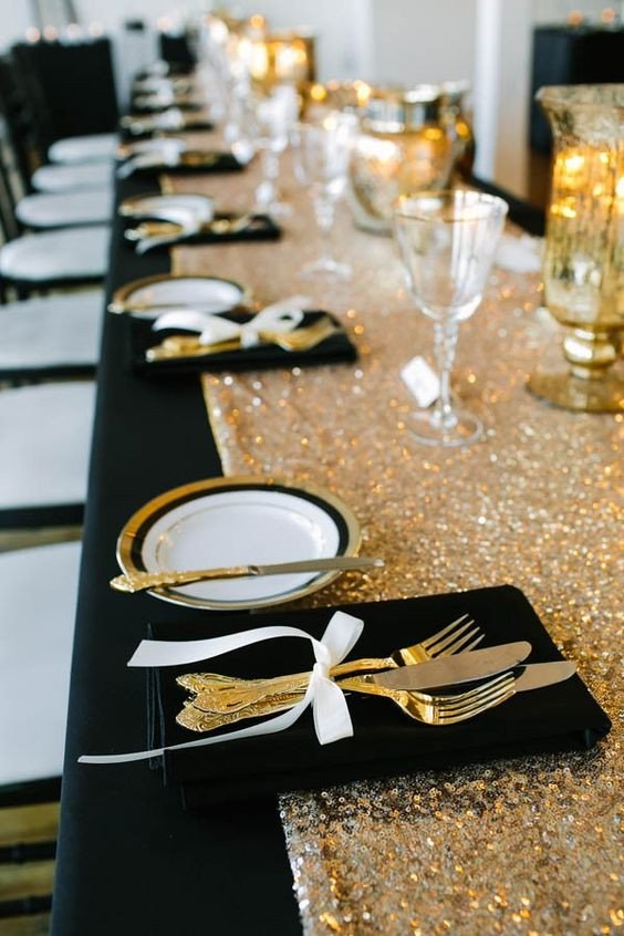 Black and Gold Wedding Decor Fresh 20 Black and Gold Wedding Color Ideas for Fall Winter