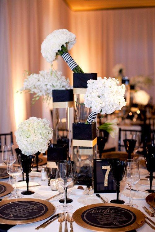 Black and Gold Wedding Decor Inspirational Glamorous Black White and Gold Wedding with Sequin Bridesmaid Dresses
