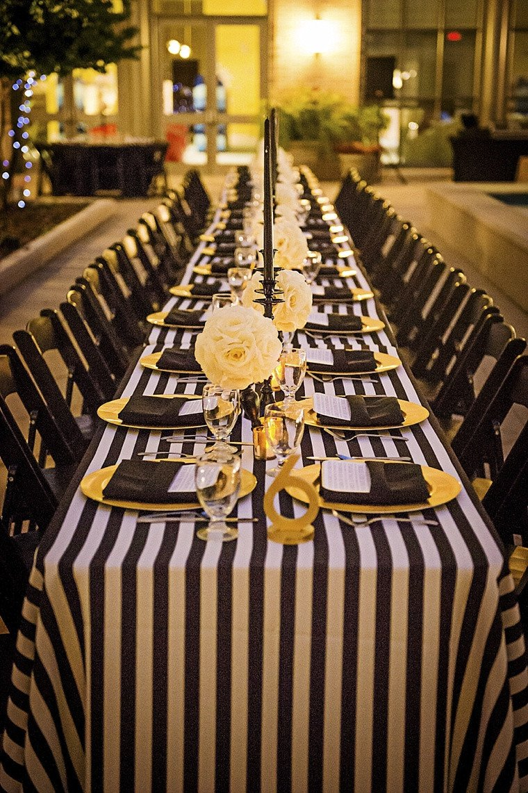 Black and Gold Wedding Decor Inspirational Modern Elegant White Black and Gold Wedding