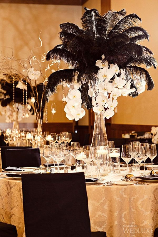 Black and Gold Wedding Decor Lovely 55 Eye Catching Feather Wedding Ideas for 2016