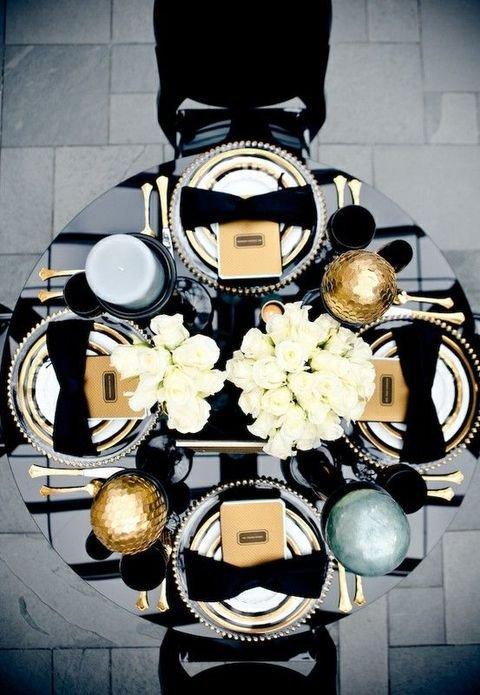 Black and Gold Wedding Decor Luxury 39 Timeless Black Tie Wedding Ideas Weddingomania