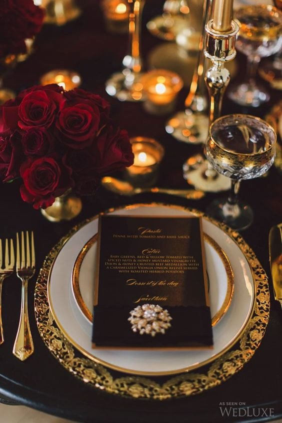 Black and Gold Wedding Decor Unique 20 Black and Gold Wedding Color Ideas for Fall Winter