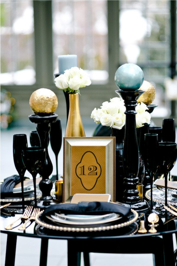 Black and Gold Wedding Decor Unique White Wall Black and Gold
