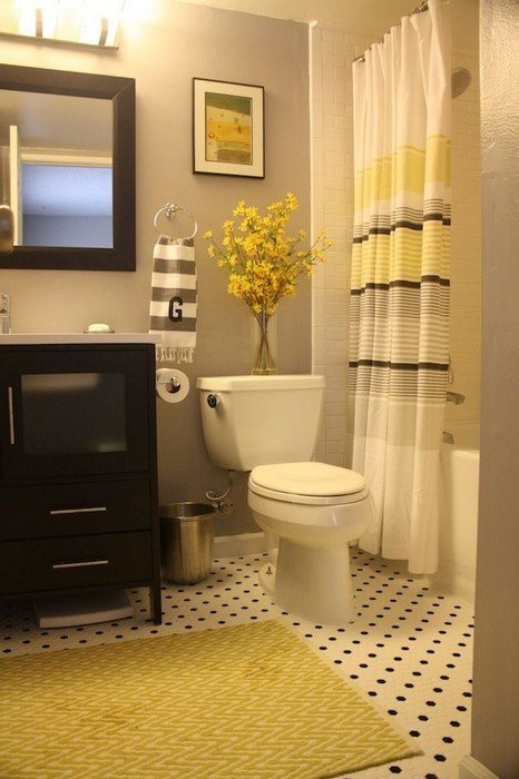 Black and Gray Bathroom Decor Beautiful 22 Bathrooms with Yellow Accents Messagenote