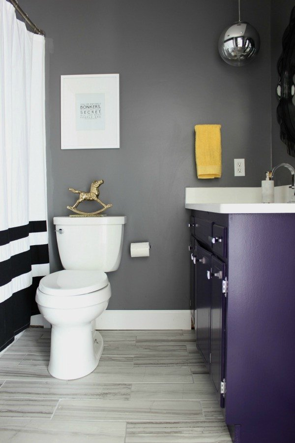 Black and Gray Bathroom Decor Fresh something Will Always Go Wrong the Hall Bathroom Remodel