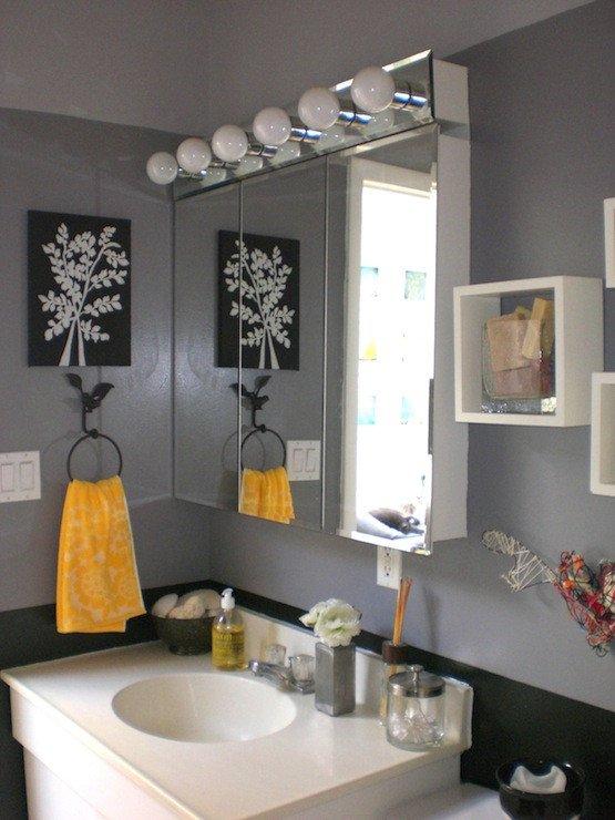 Black and Gray Bathroom Decor Lovely Bathroom
