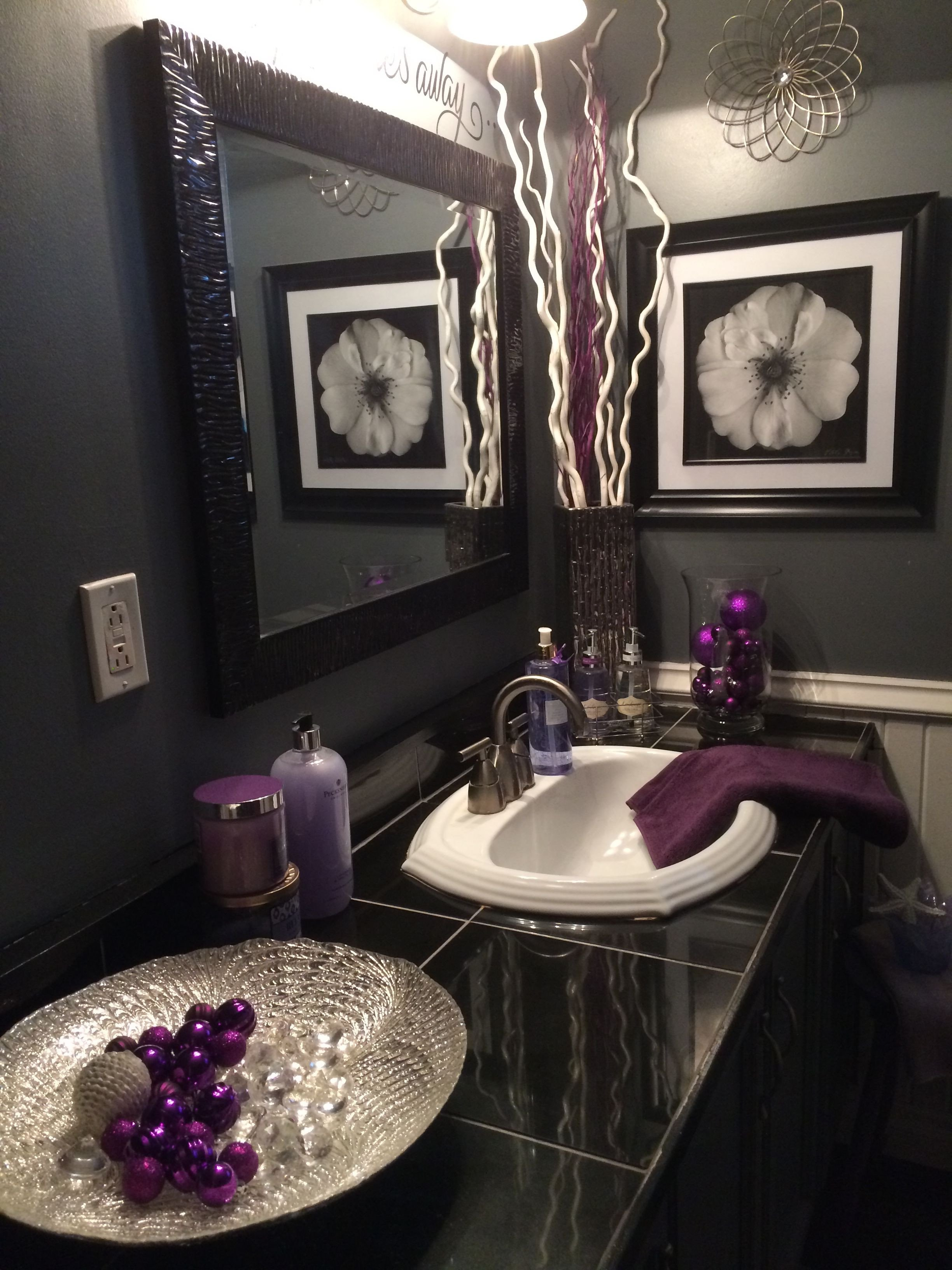 Black and Gray Bathroom Decor New Black and Grey Bathroom with Lavender Accents Home Sweet Home