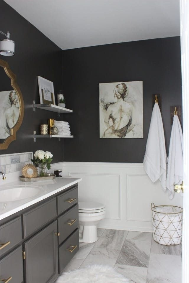 Black and Gray Bathroom Decor New the Best Things You Can Do to Your Bathroom for Under $100 Renters solutions