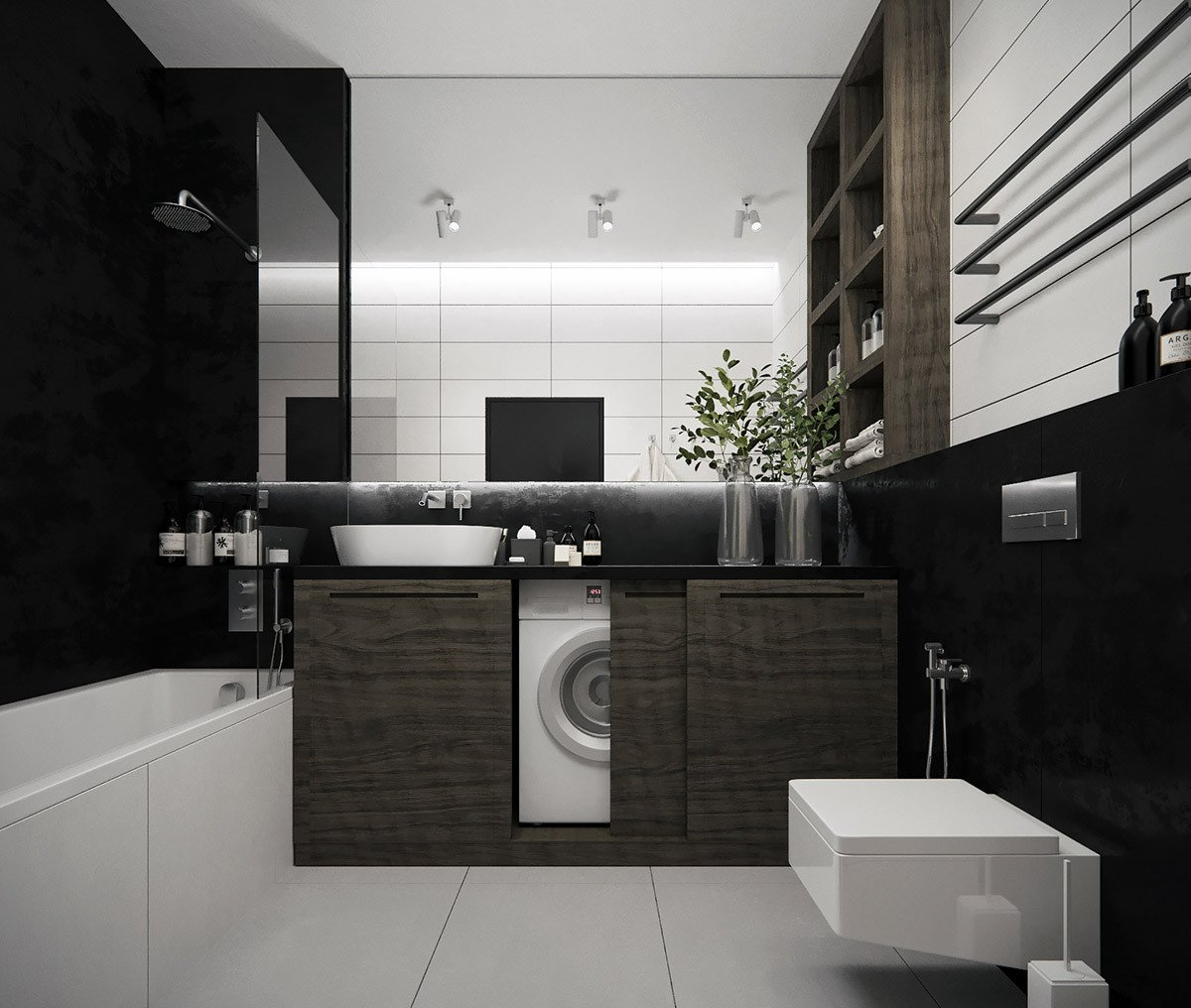 Black and Grey Bathroom Decor Awesome 36 Modern Grey & White Bathrooms that Relax Mind Body & soul