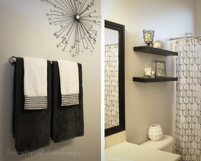 Black and Grey Bathroom Decor Beautiful Fit Crafty Stylish and Happy Guest Bathroom Makeover
