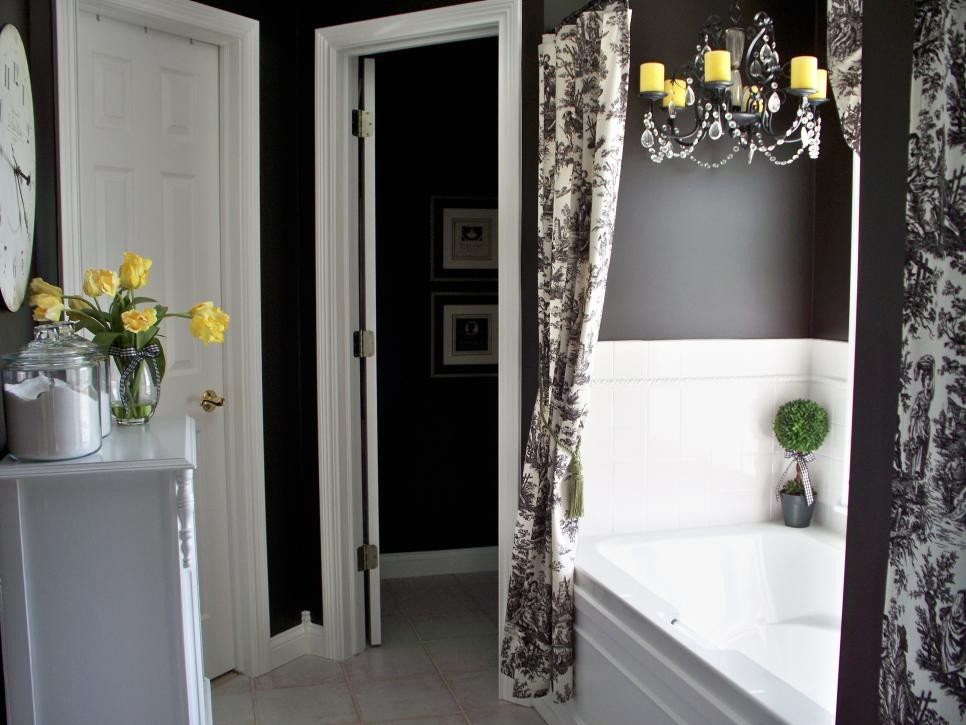 Black and Grey Bathroom Decor Elegant Colorful Bathrooms From Hgtv Fans