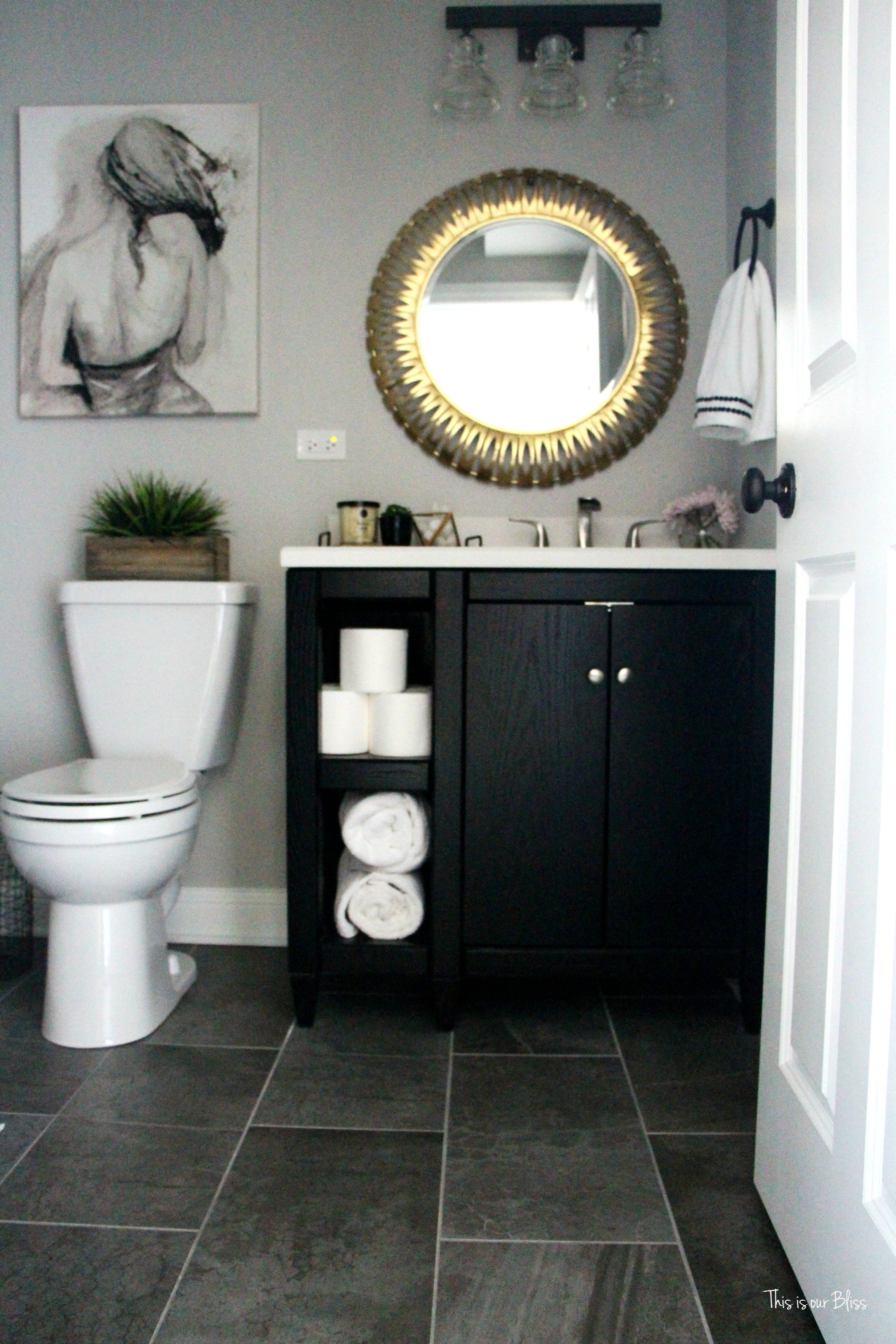 Black and Grey Bathroom Decor Elegant How to Create A Neutral Glam Basement Bathroom