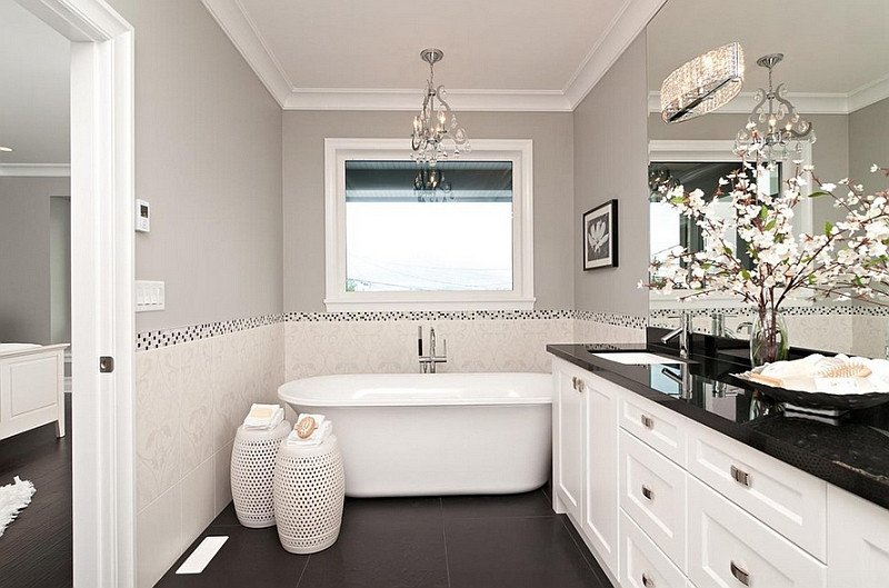 Black and Grey Bathroom Decor New Black and White Bathrooms Design Ideas Decor and Accessories