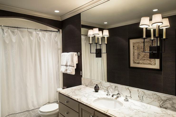 Black and Grey Bathroom Decor Unique Gray and Black Bathroom Design Contemporary Bathroom