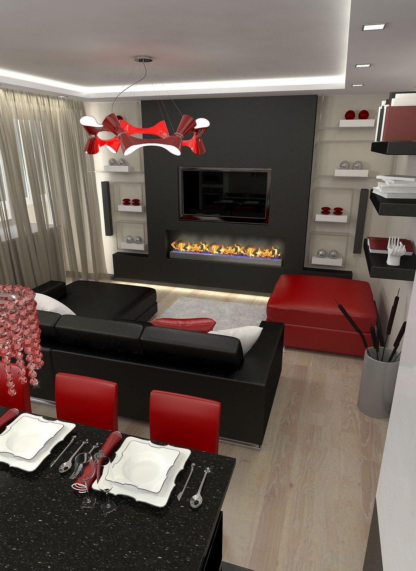 Black and Red Home Decor Elegant 26 top Houzz Familyroom Design Ideas Brown sofa Decoration
