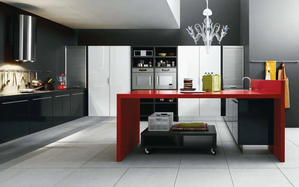 Black and Red Home Decor Unique Modern Kitchens From Cesar