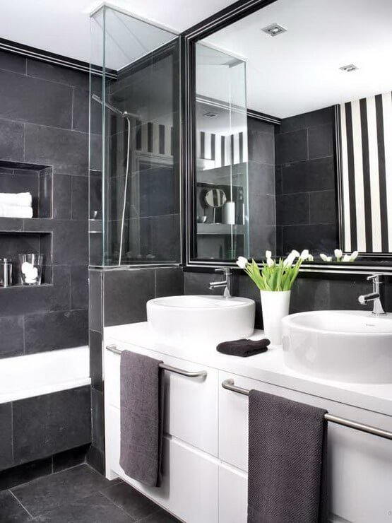 Black and Silver Bathroom Decor Awesome How to Master the Black Bathroom Trend Pivotech