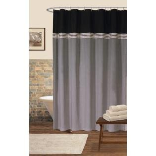 Black and Silver Bathroom Decor Beautiful Lush Decor Terra Shower Curtain Black Silver