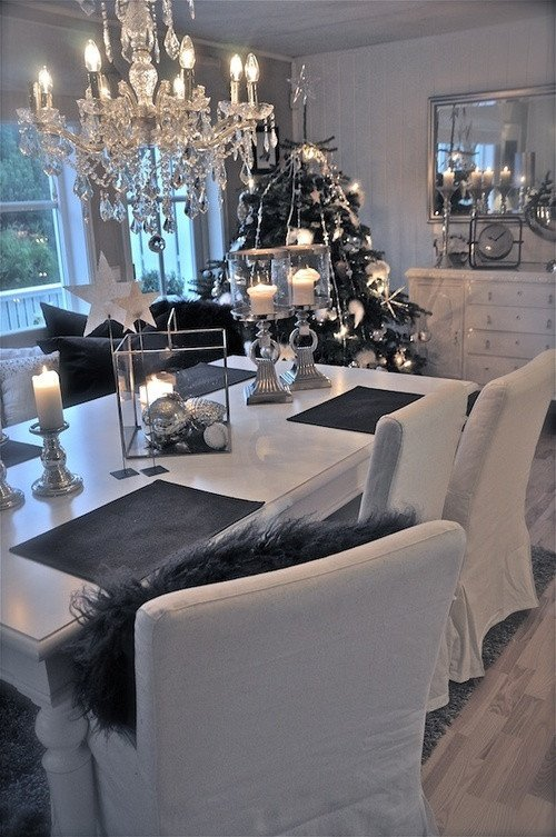 Black and Silver Home Decor Beautiful 38 Stylish Christmas Décor Ideas In All Shades Grey Digsdigs