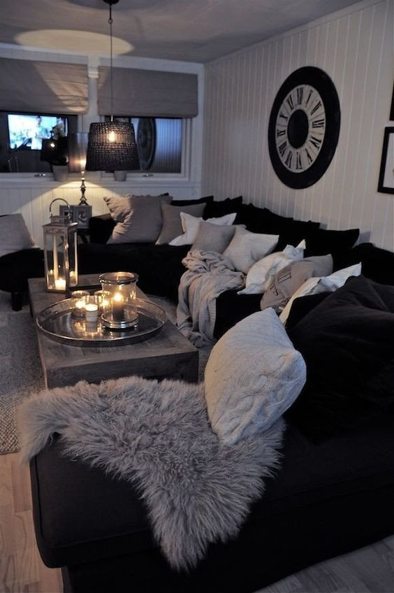 Black and Silver Home Decor Fresh 48 Black and White Living Room Ideas Decoholic
