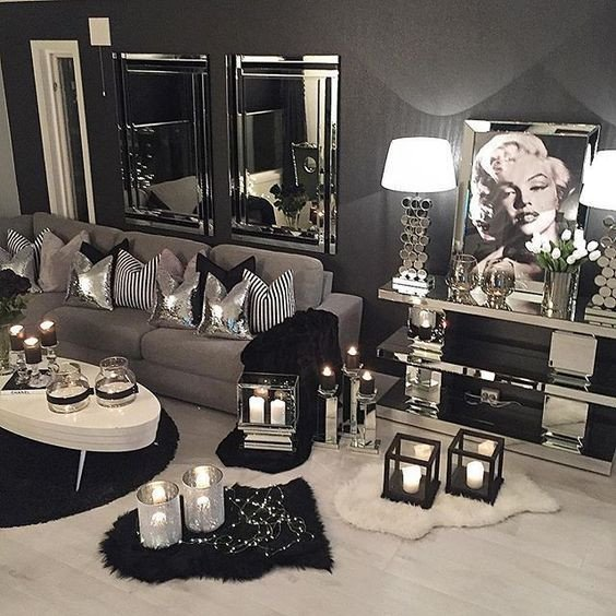Black and Silver Home Decor Lovely Way too Much Candles but I Love Everything Else Candles In 2019