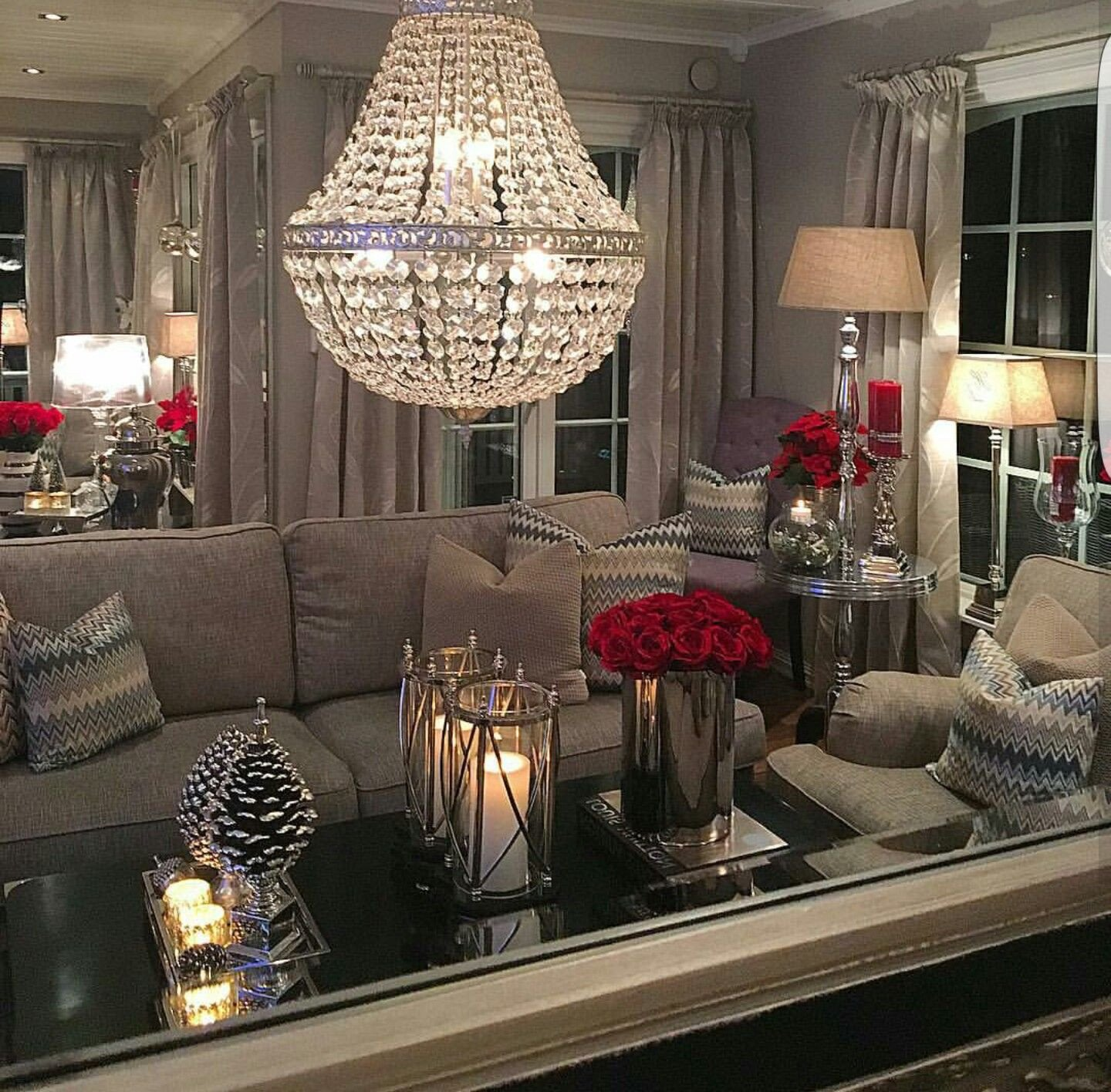 Black and Silver Home Decor Lovely What Lovely Room I Love the Red Accents with the Neutral Pallet