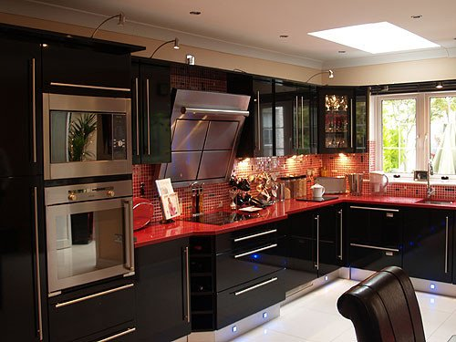 Black and Silver Kitchen Decor Awesome Cl1 High Gloss Black bydesign Kitchens and Bedrooms Fitted Kitchens Bedroom Furniture
