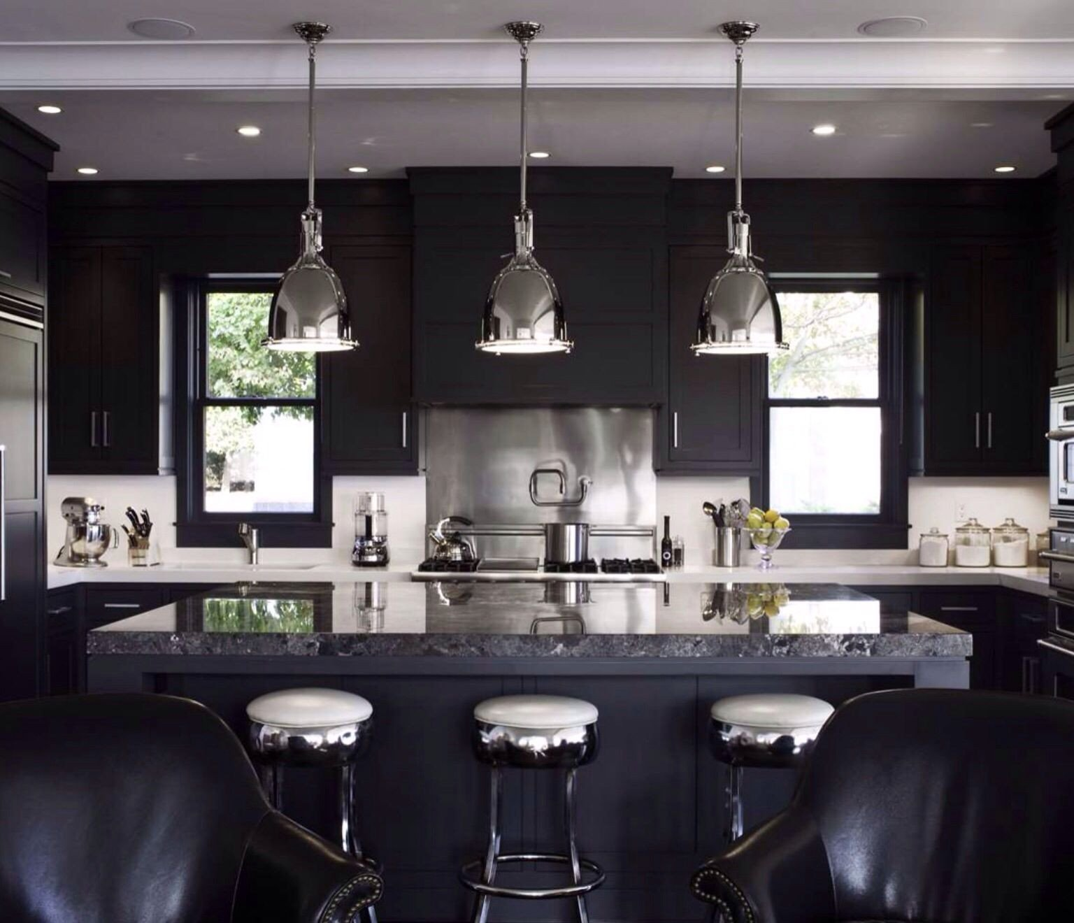 Black and Silver Kitchen Decor New Black and Silver Kitchen Home Decor In 2019