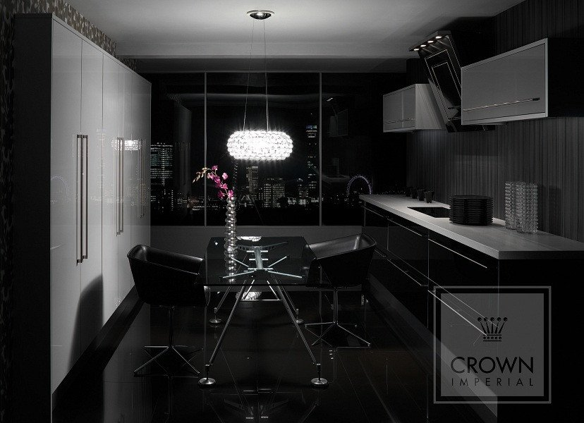 Black and Silver Kitchen Decor Unique Black Silver and White Elegant Kuchnie Crown Imperial Magnatkitchens Ltd