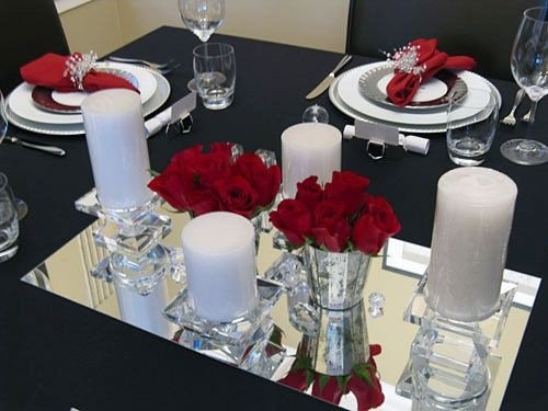 Black and Silver Table Decor Awesome Christmas Table Decorating with Red White Silver and Crystal Acclamation
