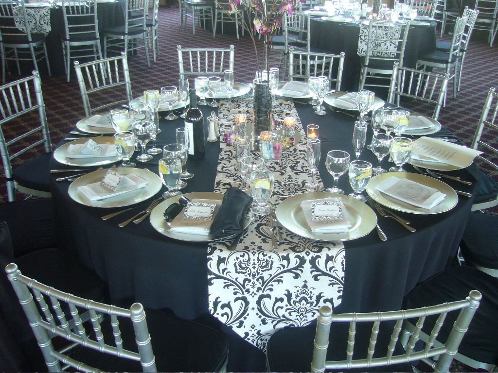 Black and Silver Table Decor Beautiful Elegant Wedding Table Design My Tucson Wedding