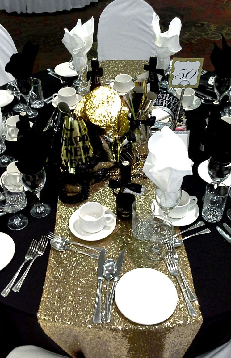 Black and Silver Table Decor Elegant Black Gold and Silver Centerpiece for A Black Tie Affair Decor by Davis Floral Creations