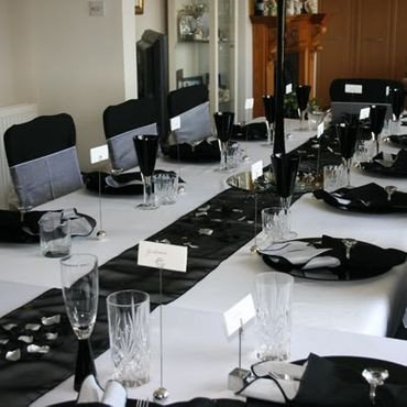 Black and Silver Table Decor Lovely 10 Black organza Table Runners Wedding Decoration