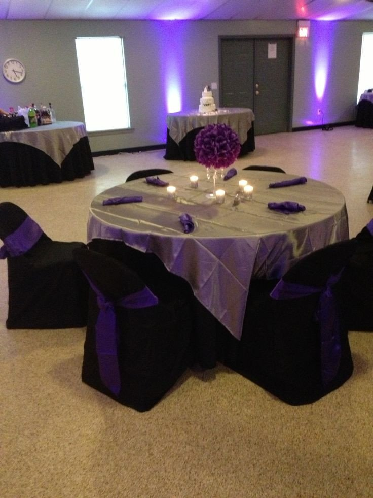 Black and Silver Table Decor Lovely Purple Black Silver Table Decoration