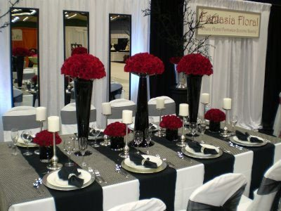 Black and Silver Table Decor Lovely theme Black & White