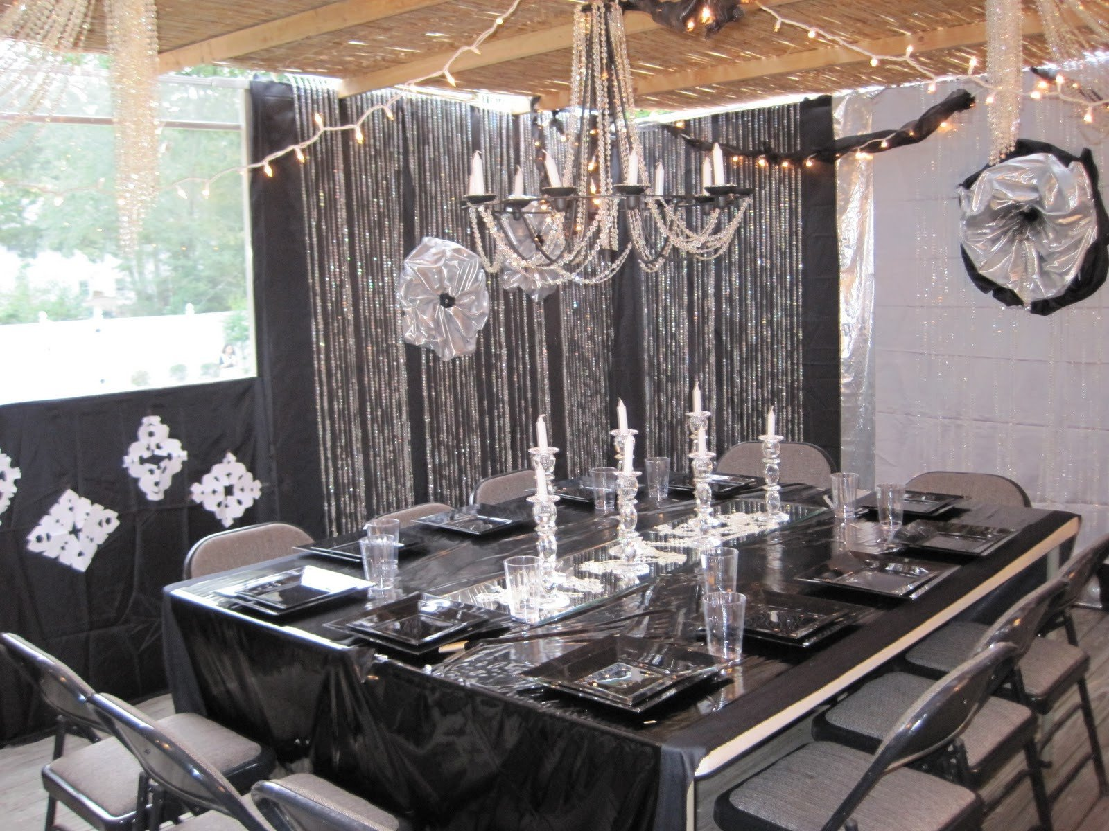 Black and Silver Table Decor New Black and Silver Party Decorations
