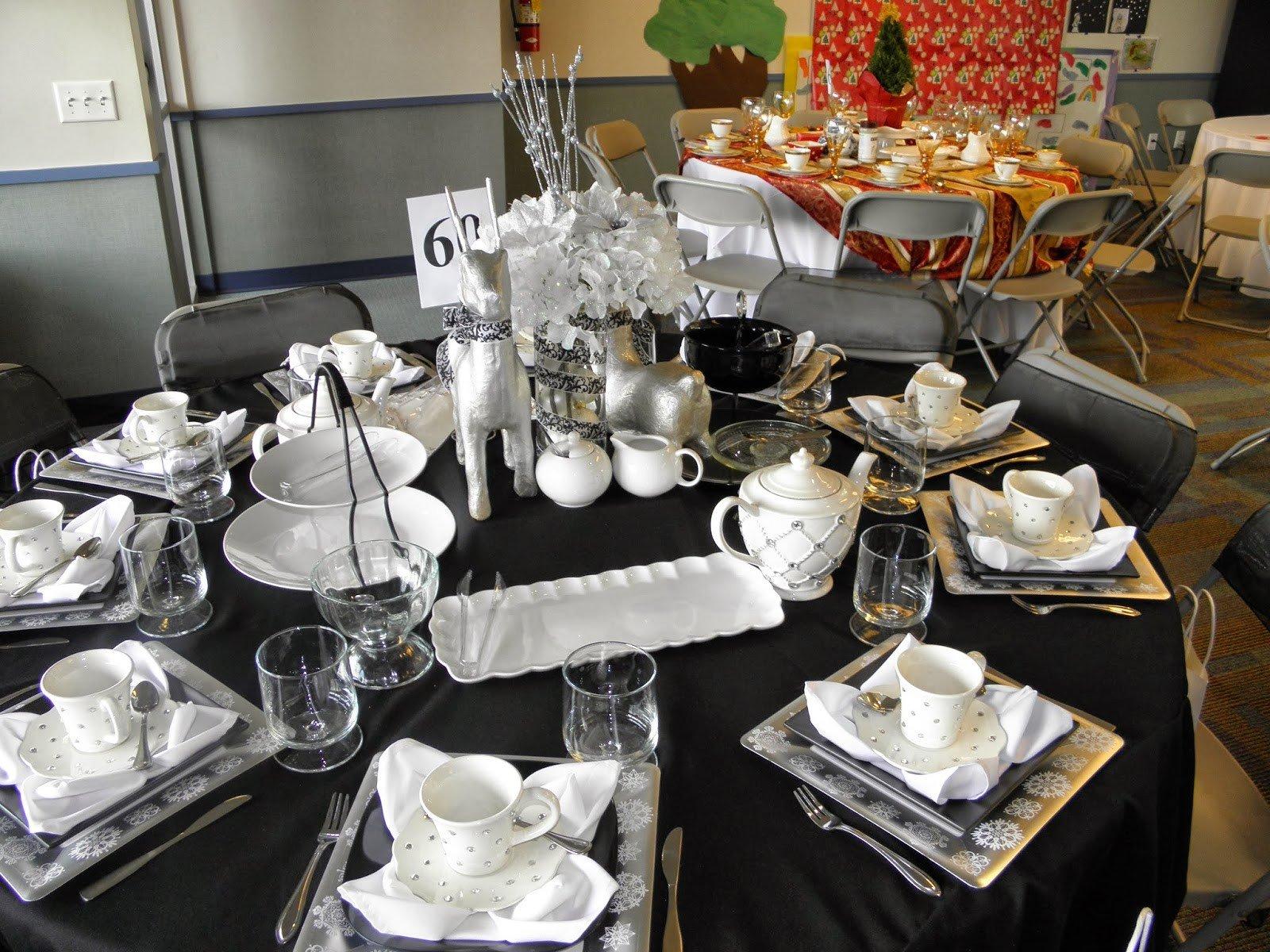 Black and Silver Table Decor Unique 56 Black and Silver Table Settings Noir Et Blanc Un Marriage toujours Lgant En 55 Ides