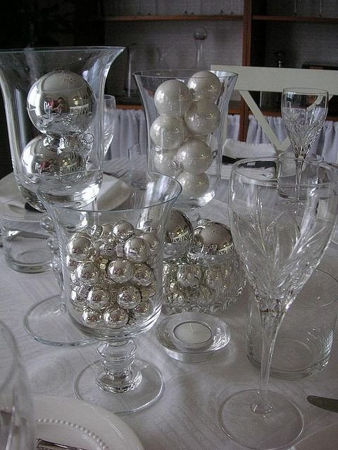 Black and Silver Table Decor Unique Black White Silver Table Setting Reception Party Decorations Pinterest