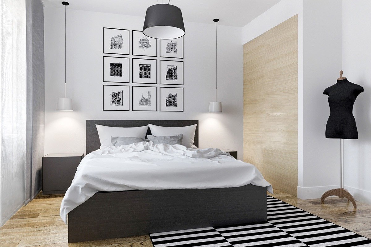Black and White Bedroom Decor Inspirational 40 Beautiful Black & White Bedroom Designs