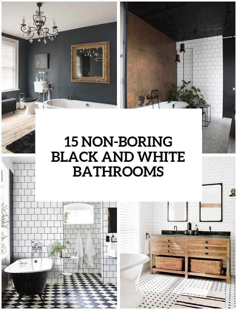 Black and White Decor Ideas Inspirational 15 Non Boring Black and White Bathroom Decor Ideas Shelterness