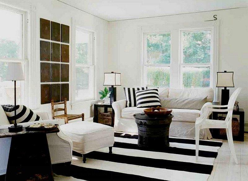 Black and White Farmhouse Decor Beautiful Black and White Living Rooms Design Ideas