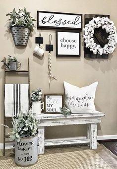 Black and White Farmhouse Decor Beautiful Creative Ways to Decorate the sofa Home Decor Pinterest