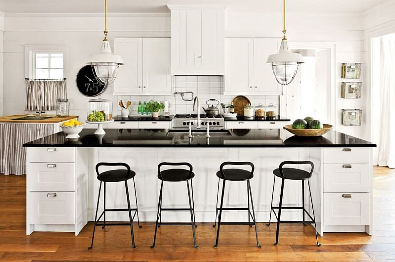 Black and White Farmhouse Decor Elegant Black and White Kitchens Ideas S Inspirations