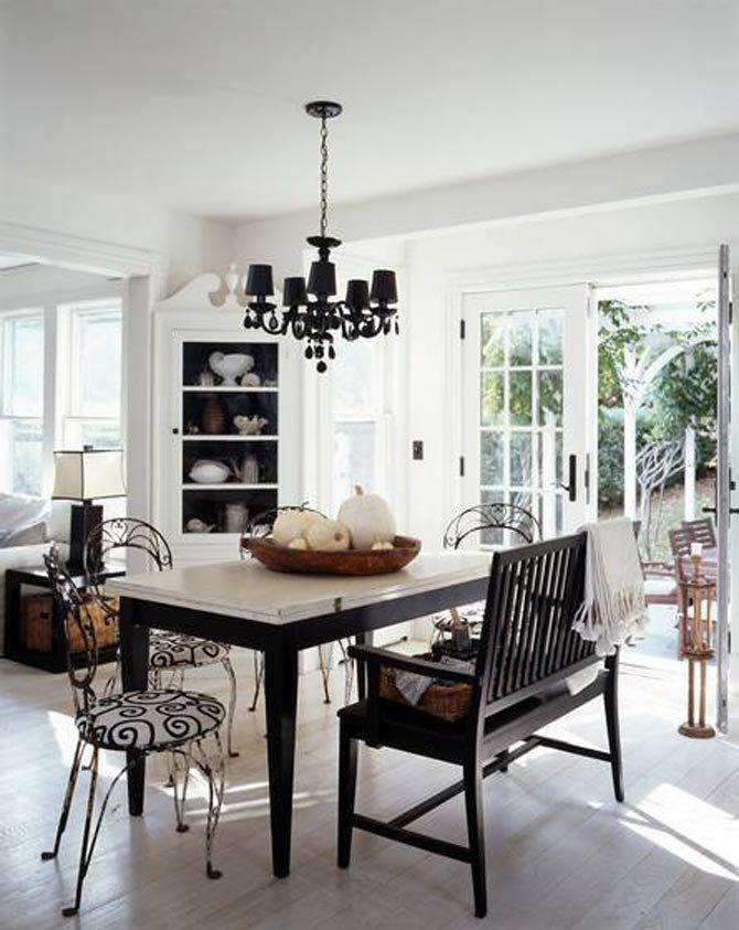 Black and White Farmhouse Decor Elegant Contemporary Farm House Rustic Black White Interior Design