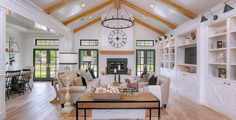Black and White Farmhouse Decor Elegant Dramatic Modern Farmhouse with Stunning White and Black Interior Stevenson Design