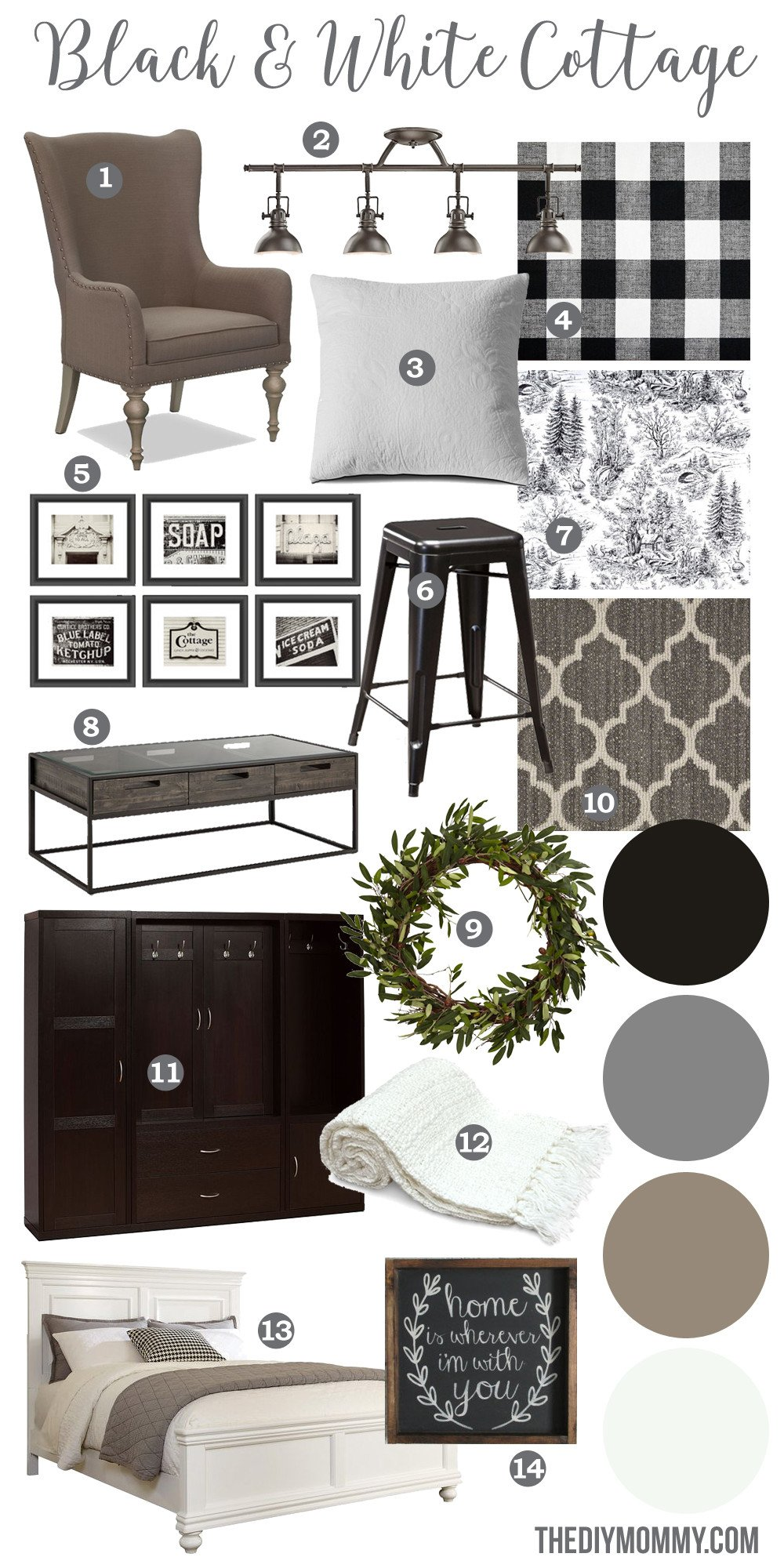 Black and White Farmhouse Decor Fresh Mood Board A Black & White Guest Cottage – Our Newest Small Space Bud Renovation Project