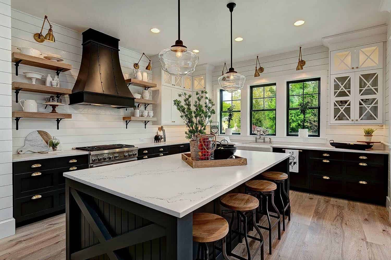 Black and White Farmhouse Decor Lovely 35 Amazingly Creative and Stylish Farmhouse Kitchen Ideas