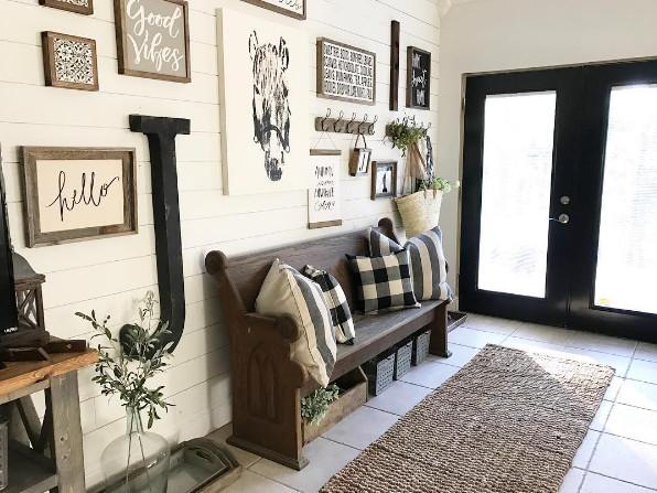 Black and White Farmhouse Decor Unique Backroadsignco On Instagram Black and White Foyer Entry Farmhouse Wall Art