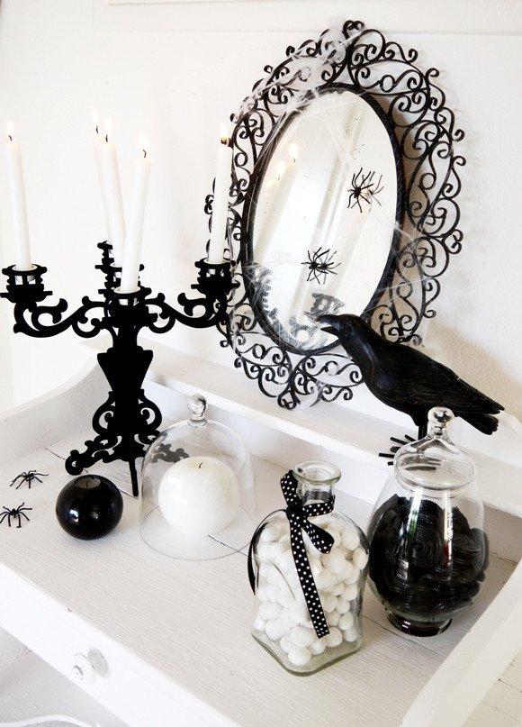 70 Ideas For Elegant Black And White Halloween Decor DigsDigs